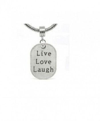 Live Love Laugh Dangle Charm Compatible with Most Major European Bracelets - CT110FLCSGF
