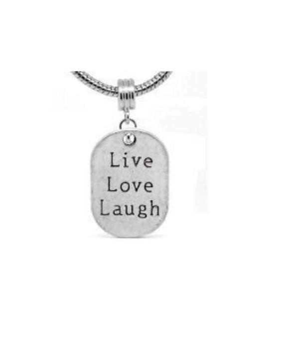 Live Love Laugh Dangle Charm Compatible with Most Major European Bracelets - CT110FLCSGF