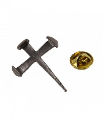 6030340 Rugged Cross Nail Lapel Pin Crucifix Brooch Tie Tack Jesus - CR11DZKZKDB