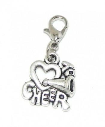 "Jewelry Monster Clip-on ""Love to Cheer w/ Cone"" Charm Bead - CI11TADFQY9"