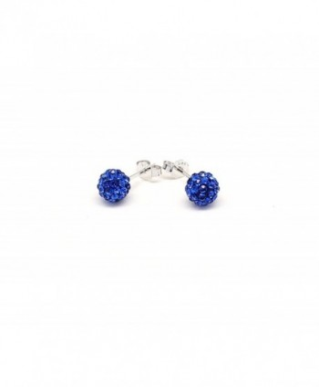 Crystal Earrings Sterling Silver Sapphire