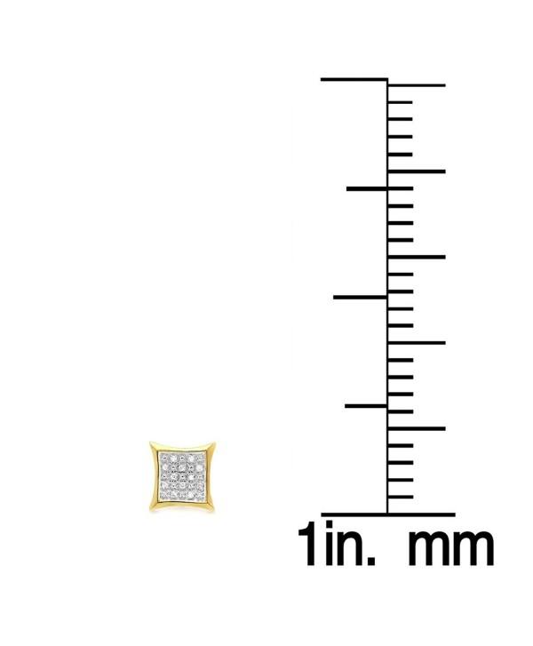 0.10 Carat (ctw) Round White Diamond Kite Shape Stud Earrings 1/10 CT - CY110QKMS9R