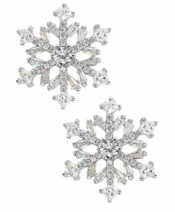 Snowflake 925 Silver Stud Earrings in Women's Stud Earrings