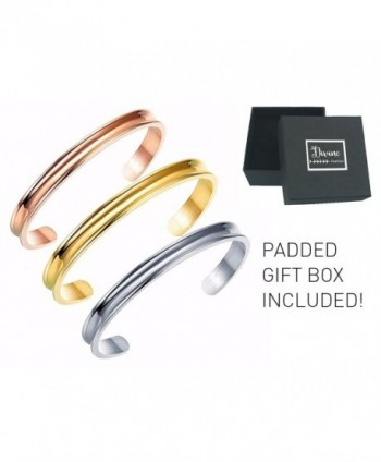 Stainless Bracelet Grooved Divine Fashion - CH1808G0O0L