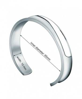 WUSUANED Stainless Bracelet Bangle silver