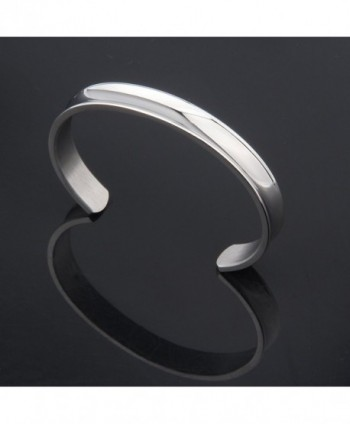 WUSUANED Stainless Bracelet Bangle silver in Women's Cuff Bracelets