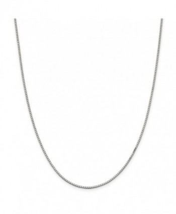 "925 Sterling Silver Solid 1.5mm Polished Box Chain Necklace 7"" - 30"" - C911E8756HZ"