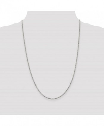 Sterling Silver Solid Polished Necklace in Women's Chain Necklaces