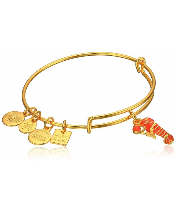 Alex and Ani Womens Charity By Design Lobster Bangle - Rafaelian Shiny Gold - CK12EPJP9OF