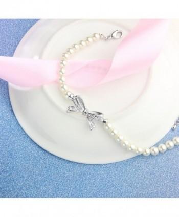 Angelady Bracelet Zirconia Birthday Anniversary in Women's Strand Bracelets
