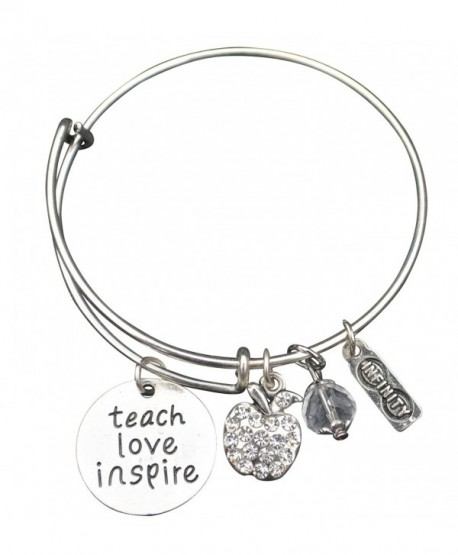 Infinity Collection Teacher Bracelet- Teacher Jewelry- Teacher Gift - Show Your Teacher Appreciation - C612KXL5MAT