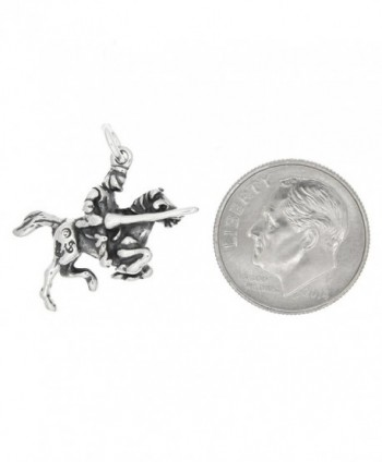 Sterling Silver Oxidized Dimensional Knight