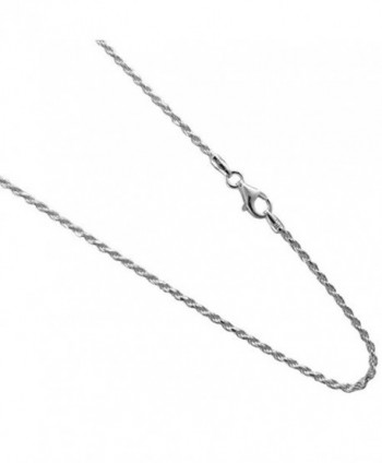 1.5mm Sterling Silver Diamond Cut Rope Chain .925 Italian Necklace 14-16-18-20-22-24-30 inches - CU11TDHWUV5