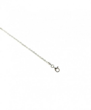 Sterling Silver Diamond Italian Necklace in Women's Chain Necklaces