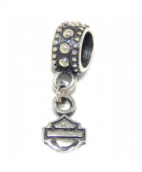 """Solid 925 Sterling Silver Dangling """"Shield and Banner"""" Charm Bead - C212OE53AKW"""