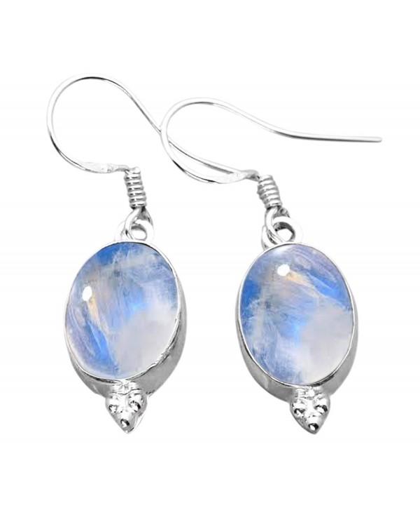 12 00ctw Moonstone Silver Sterling Jewelry - Rainbow Moonstone - CM125BM0A2Z