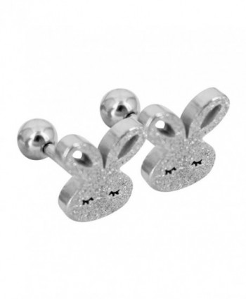 Bonnie Stainless Rabbit Screwback Earrings in Women's Stud Earrings