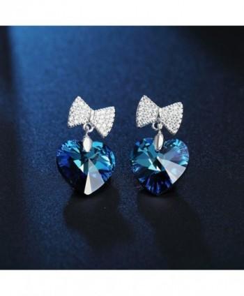SIVERY Sterling Earrings Swarovski Crystals in Women's Stud Earrings
