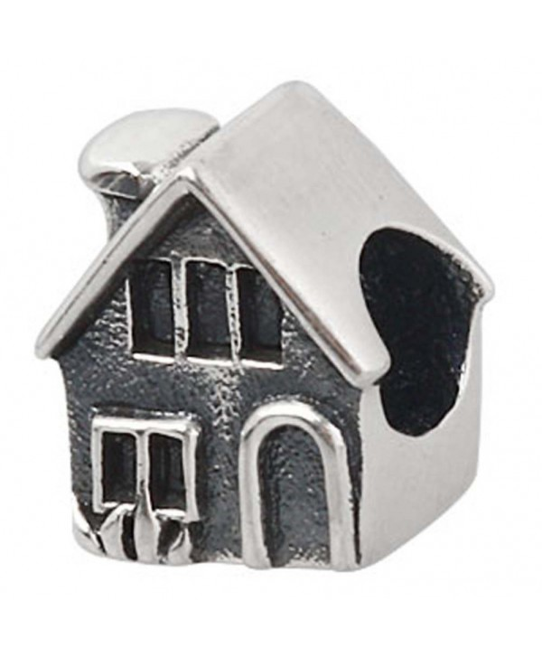 "Home Charm 925 Sterling Silver Family Charm House Charm for DIY Charms Bracelet (B) - "" B "" - CG12OCV2MDQ"