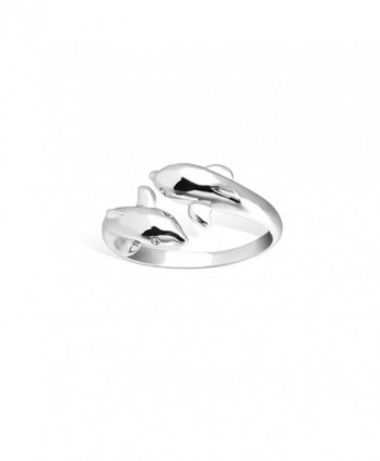 SHEGRACE Lovely Dolphin Sterling Silver in Women's Band Rings