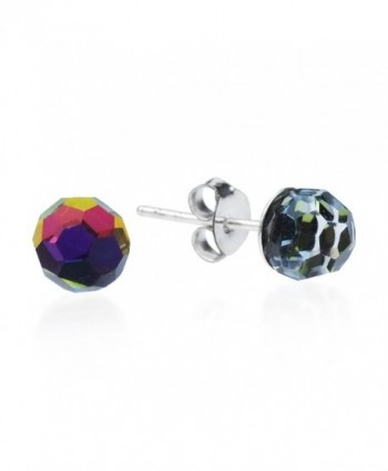 Rainbow Fashion Crystal Sterling Earrings