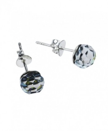 Rainbow Fashion Crystal Sterling Earrings in Women's Stud Earrings