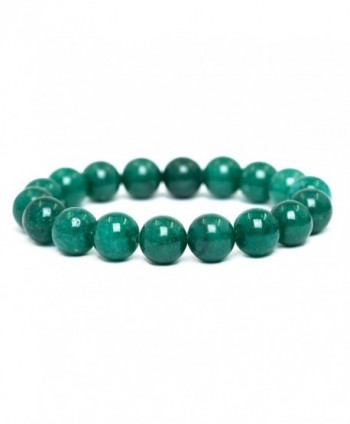 Tom+Alice Natural Healing Power Gemstone 10MM Round Beaded Charm Stretch Beacelets for Women&Man - Sea-Green - CY187AIGRDK