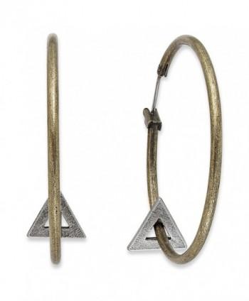 American Rag Earrings- Antique Gold-Tone Triangle Hoop Earrings - C011N13K401