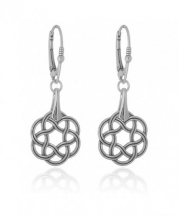 Sterling Silver Celtic Knot Leverback Earrings - CI188NX2NTM