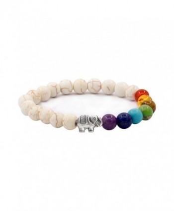 Sundear Bracelets Elephant Chakras Bracelet in Women's Stretch Bracelets