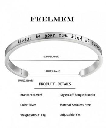 Bracelet Engraved Inspirational Christmas Thanksgiving in Women's Cuff Bracelets