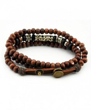 Konalla Wooden Bracelet Multistrand Wristband in Women's Wrap Bracelets