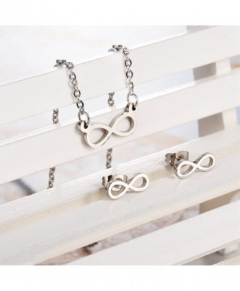 HooAMI Stainless Infinity Pendant Necklace