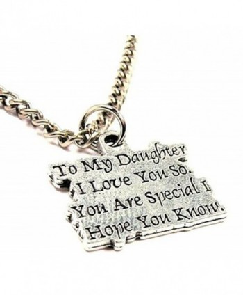"ChubbyChicoCharms To My Daughter I Love You So. You Are Special I Hope You Know Single Charm 18"" Necklace - CG11E3ZL3SX"