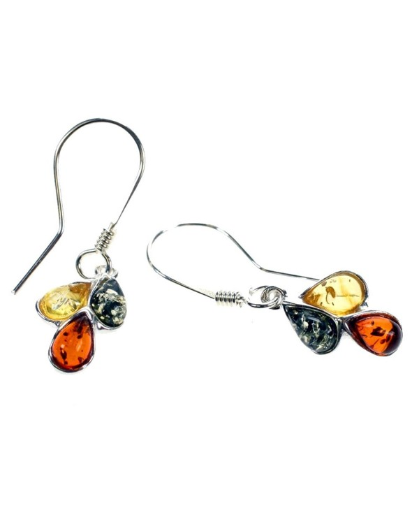 Dangle Amber Multi Color Green- Lemon- and Cognac Amber Earrings - CC11BJFBTGB
