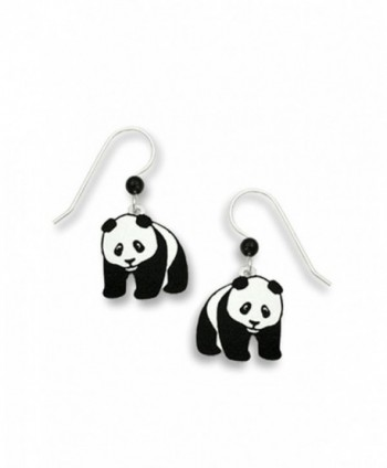 Panda Bear Hand Painted Dangle Earrings Made in USA by Sienna Sky 869 - C111CURKITV