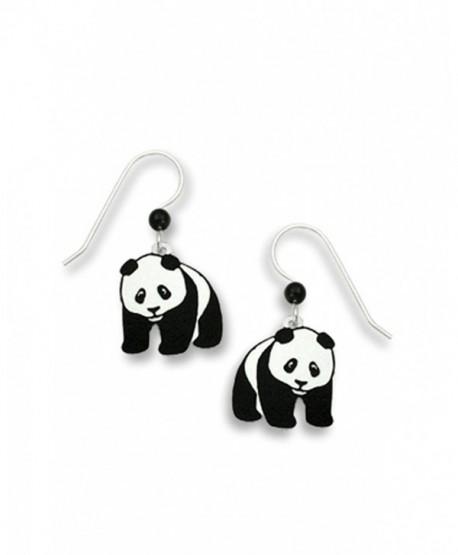Panda Bear Hand Painted Dangle Earrings Made in USA by Sienna Sky 869 - C111CURKITV