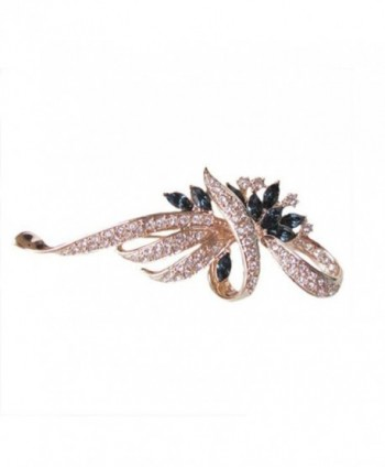 Fashion Womens Flower Zirconia Crystal in Women's Brooches & Pins