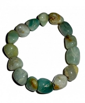 1pc Amazonite Premium Quality Tumbled Stones Crystal Healing Gemstone 6-8 Mm Nugget Beaded Stretch Bracelet - CU12BF6364L
