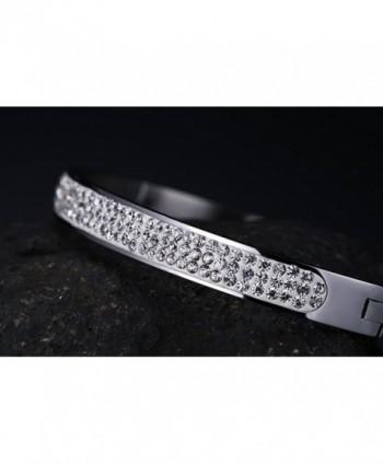 Stainless Zirconia Rhinestones Eternity Bracelet