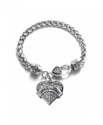 Shepherd Bracelet Silver Lobster Crystal in Women's Link Bracelets