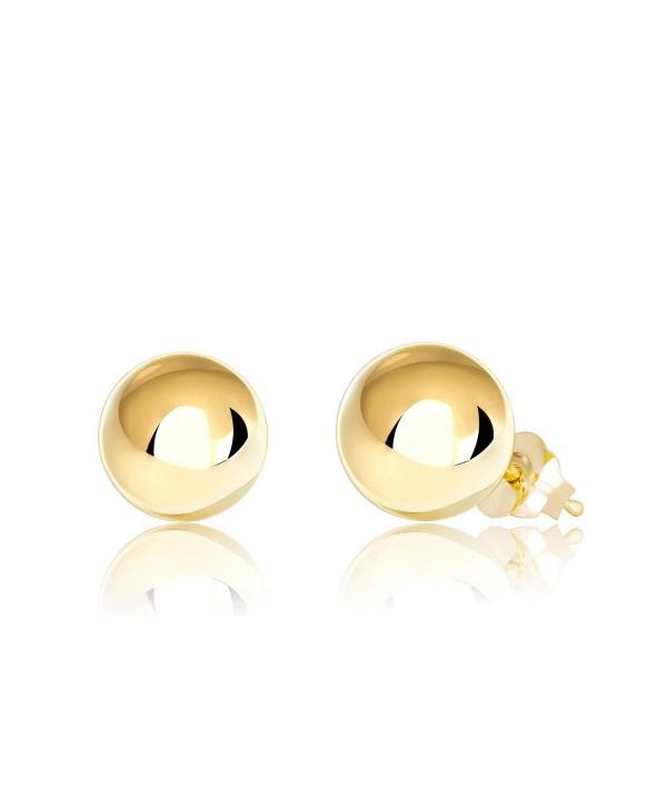 14K Gold Ball Stud Earrings- 2mm - 10mm - CL18287UAYE