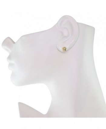 Yellow Gold Ball Stud Earrings in Women's Ball Earrings