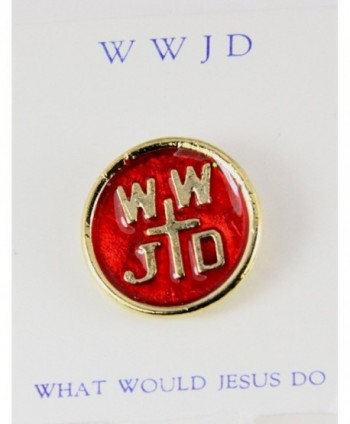 6030230 WWJD What Would Jesus Do Lapel Pin Brooch Tie Tack - C411DUWHF19