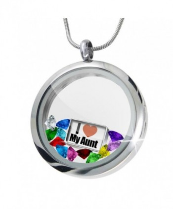 Floating Locket Set I Love My Aunt + 12 Crystals + Charm- Neonblond - CX11I4Q8R2H