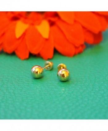 Yellow Gold Earrings Child Screwbacks