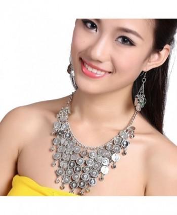 Swrose Jewelry Necklace Earrings Silver