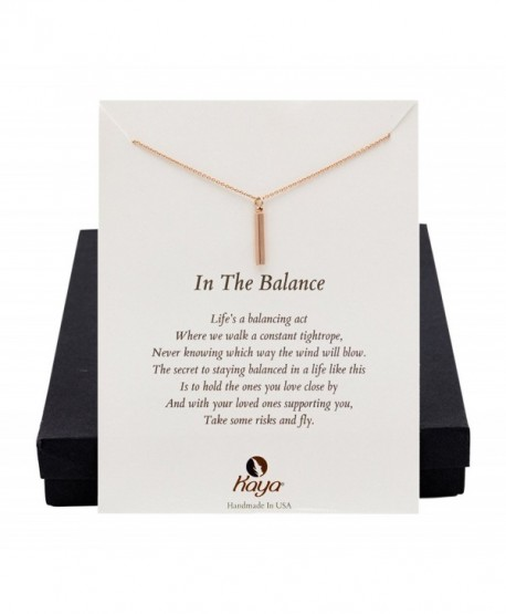 Cheer Up Or Sympathy Gift- Balance Of Life Rose Gold Jewelry Necklace- 17.5 inches - C312NADQ0M0