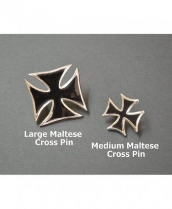 Maltese Jacket Enamel Silver Finish in Women's Brooches & Pins