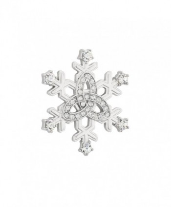 Irish Brooch Snowflake Crystal & Rhodium Plated Made in Ireland - CX11ZC507IZ